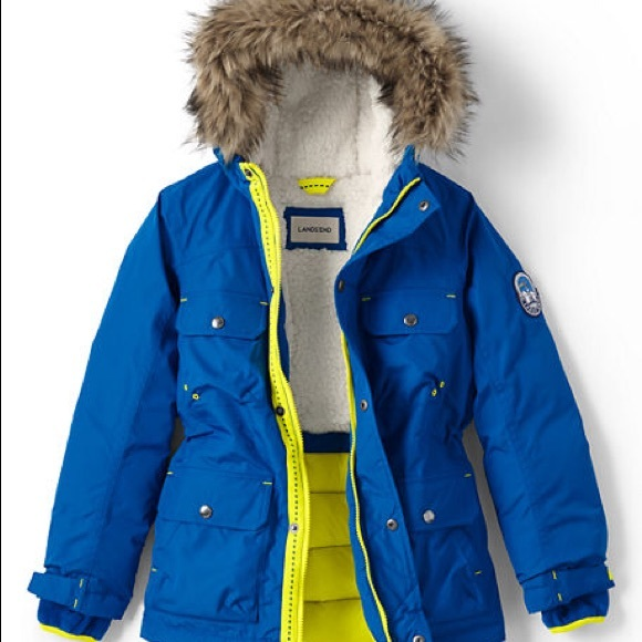 ed968518555 Lands' End Jackets & Coats | Boys Expedition Parka In Bright Blue ...